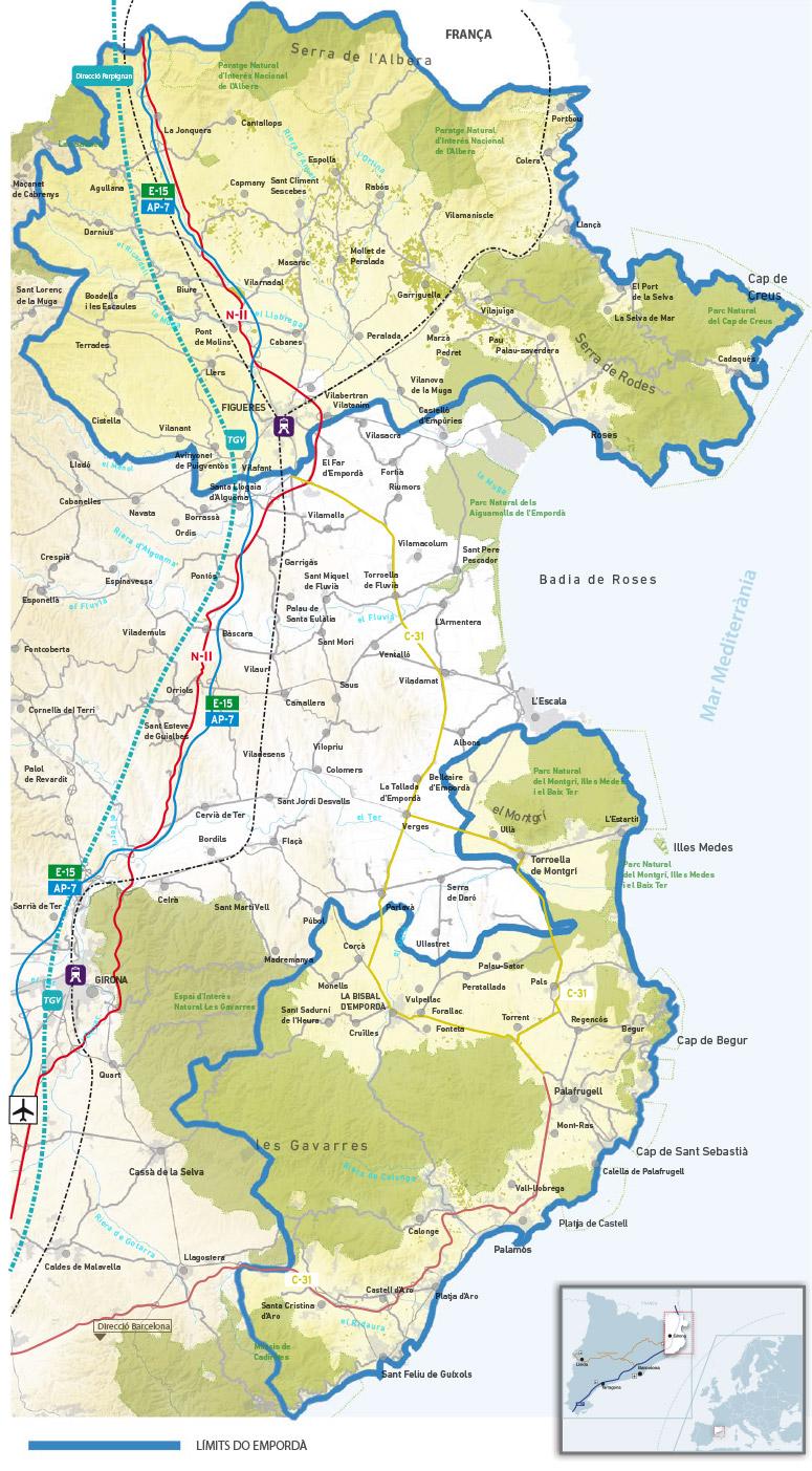 Mapa De Alt Emporda.Do Map Do Emporda